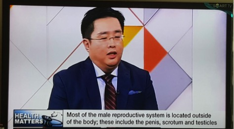 Dr Tan on Channel News Asia speaking on male subfertility and sexual dysfunction
